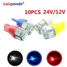 LaLeyenda 10 x 12V/24V T10 5050 194 168 w5w Lampada Light Led Parking Bulbs Car Auto Dashboard Panel Wedge Clearance Dash Lamps patriot pa 445 t10 x treme