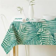 Rectangular Tropical Plants Printed Tablecloth