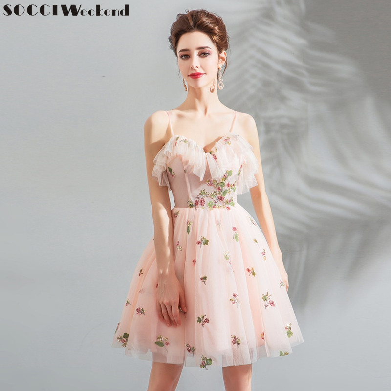 9a5de5b54c8 Detail Feedback Questions about SOCCI Weekend Short Prom Dresses 2018 Sexy  Backless Lace Up Prom Gown Formal Dress Women Occasion Party Dresses Robe  De ...