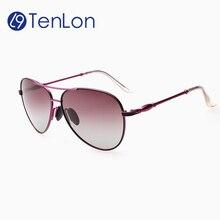 YYTZM Glasses brand fashion pilot polarized sunglasses women oculos de sol feminino Sun Glasses for woman with Case Box