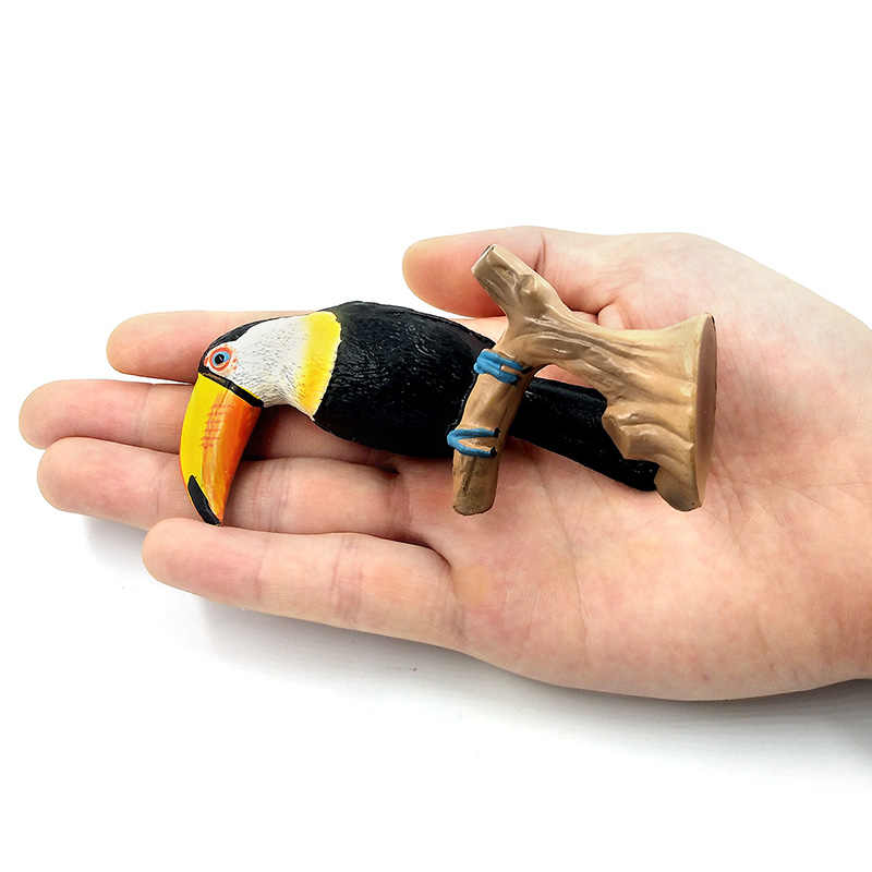 Simulação Da Floresta Tucano Cacatua Figuras Modelo Animal Papagaio Pássaro Estatueta estátua decoração enfeites de decoração Para Casa de Plástico brinquedos