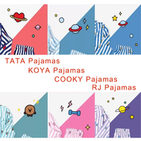 Pijamas Women Kpop Korean Star Fashion CHIMMY TATA COOKY Tracksuit Set Harajuku Cartoon Kawaii Soft Pyjamas Femme Sleeepwear