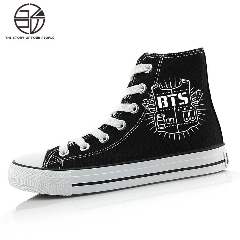 EXO bts حذاء مسطح تأثيري أحذية قماش - ازياء كرنفال