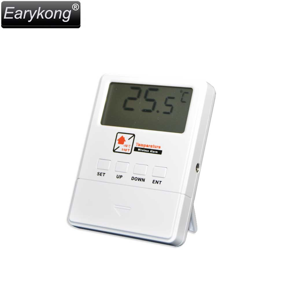Wireless 433MHz 1527 code temperature detector for font b Alarm b font System LCD Display