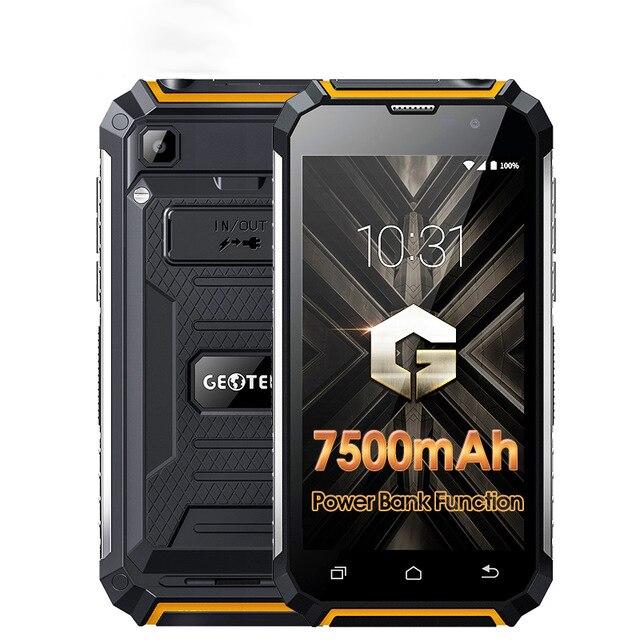 Geotel G1 Power Bank Phone 7500mAh MTK6580A Quad Core Android 7.0 2GB RAM+16GB ROM 8MP 5.0 Inch 3G WCDMA Smartphone