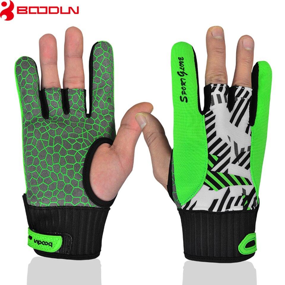 Boodun 1 paire hommes femmes Bowling gant pour gauche droite anti-dérapant Sports doux Bowling balle gants Bowling accessoires moufles