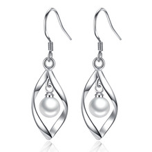 NEHZY 925 sterling silver new woman Brand Drop Earrings fashion jewelry for The stars geometry pearl hyperbole