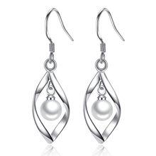 NEHZY 925 ayar gümüş yeni kadın marka damla küpe moda takı için yıldız geometri inci abartma
