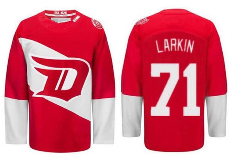 ddc81bed7 Men s Detroit Red Wings Hockey Jerseys  71 Dylan Larkin Jersey Home Red  Cheap 2016 Stadium Series Dylan Larkin Stitched Jersey-in Hockey Jerseys  from Sports ...