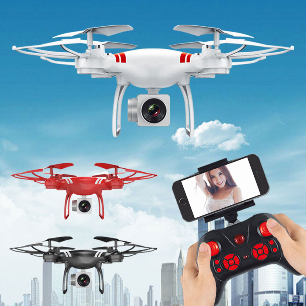 Full HD 1080p 2,4 ГГц 2.0MP беспроводной Wi Fi drone приложение удаленного самолета Quadcopter 360 градусов прокатсветодио дный Ки светодиодное освещение один к...