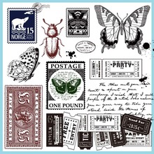 Insect stamp silicone transparent seal hand decoration Scrapbooking/Card Making/Kids Fun Decoration Supplies