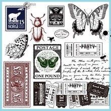 곤충 스탬프 실리콘 투명 인감 손 장식 scrapbooking/카드 만들기/어린이 재미 장식 용품