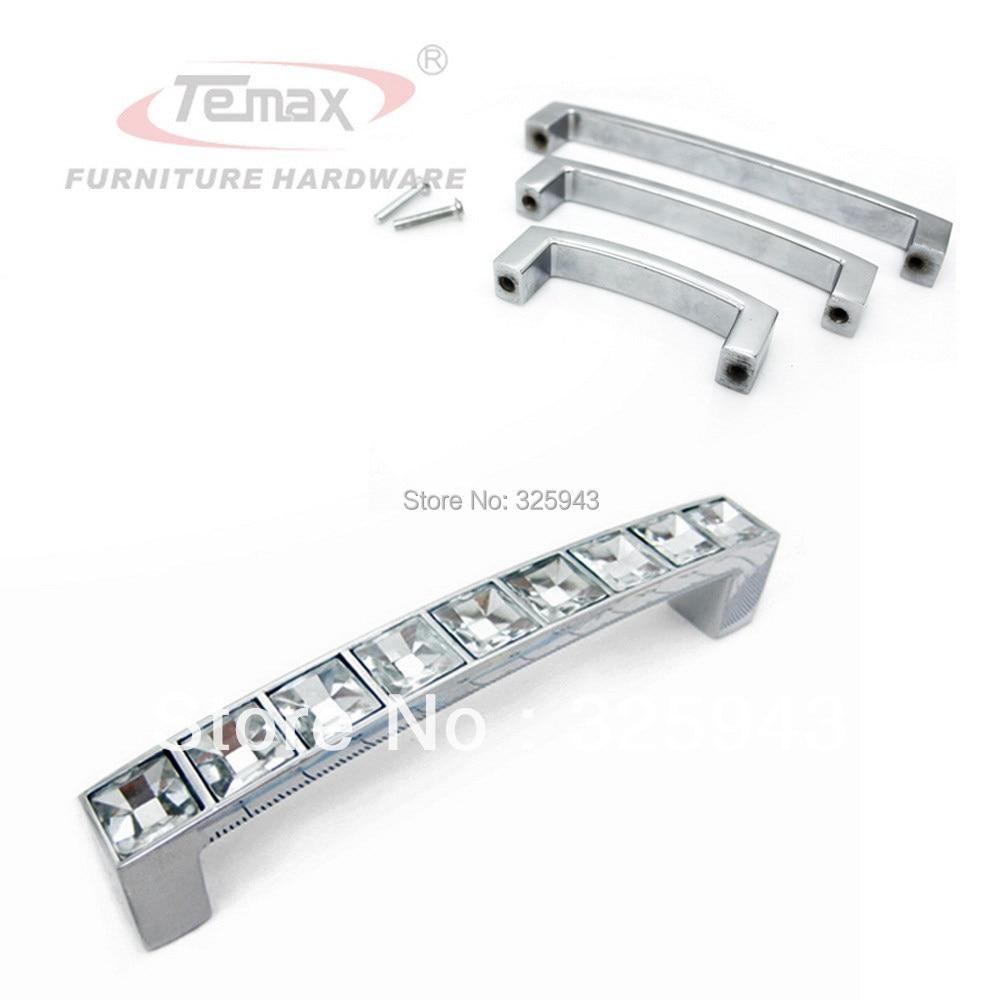 96mm clear crystal glass square cabinet knobs and handles dresser drawer pulls kids furniture kitchen bar