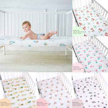Matras Baby Bed.100 Katoen Wieg Hoeslaken Zachte Baby Bed Matras Cover Protector