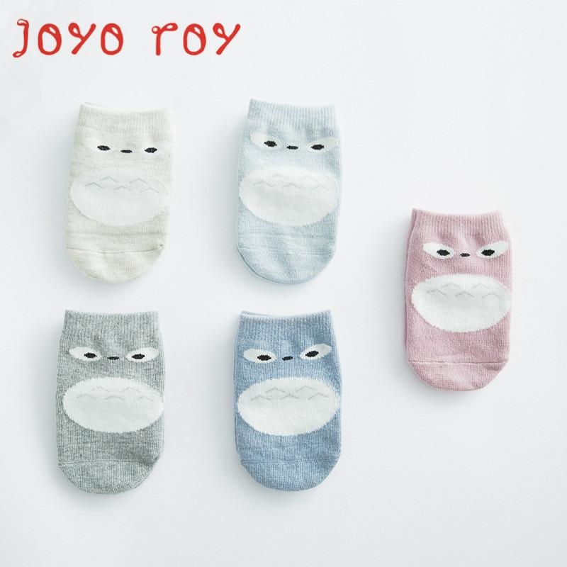 5 PCSLOT Joyo roy Spring Autumn Baby Anti-slip Cotton Short Socks Newborn Baby Cartoon 0-2 T Boys Girls Floor Socks dj0097R