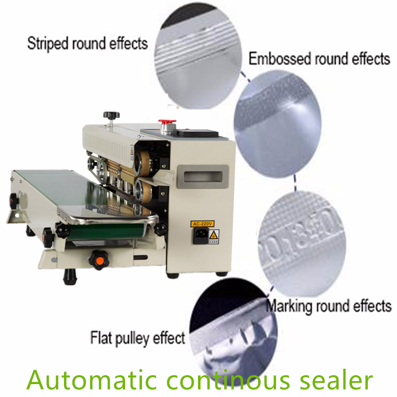 Free Ship to house Continuous Film Sealing Machine Package Sealing Machine Horizontal Heating Plastic Film Sealer FOR SALE automatic continuous plastic film sealing machine for food cosmetic potato chips dbf 1000 110v 60hz