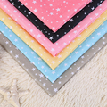 1.5 M * 1 M padrão pentagrama Estrela Feliz impresso tecidos tecidos de poliéster tecidos têxteis para o lar enviar uma tesoura