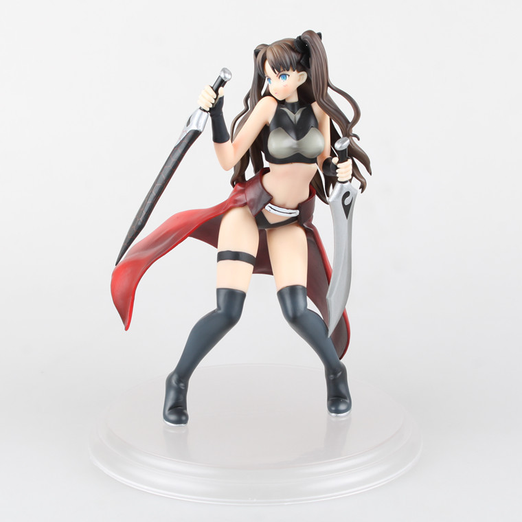 цена Huong Anime Fate/stay night 24CM Tohsaka Rin Archer ver. 1/7 Scale PVC Action Figure Collectible Model Toy