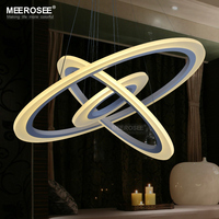 Modern LED Chandelier Light Fixture LED Acrylic Hanging Lamp LED White Suspension Lamp Stair Lights MD5057