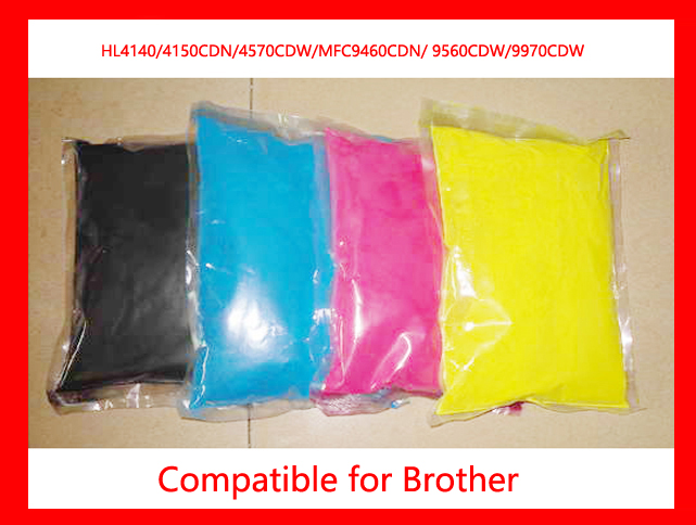High quality compatible Brother HL4040/ 4050/4070/DCP9040/DCP9045/ MFC9440/MFC9840 color toner powder refill color toner 4KG refillable color ink jet cartridge for brother printers dcp j125 mfc j265w 100ml