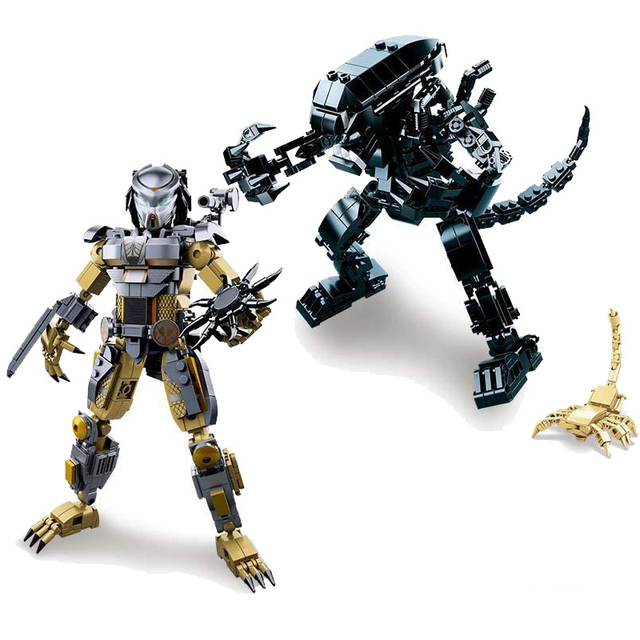 Mech Aliens Vs Predator Model Toy Building Blocks Bricks Educational DIY Toys Compatible with Legoings For Kids Birthday Gifts