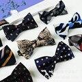 2016 Hombres de La Moda Pajaritas Para Los Hombres Casados Decoración Bloque de Color de La Mariposa Vestido de Traje Gravatas Británico Explosión Papillon # A0