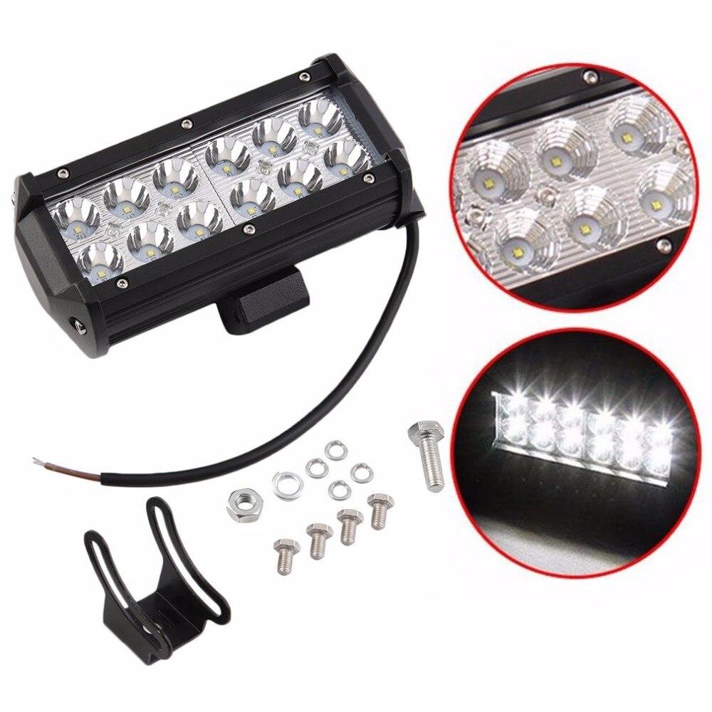 7 inch 36W LED Work Light Bar Flood Off Road Boat ATV SUV Fog Driving LED Work Light 12v Lamps Fog Light Day Running Lights for