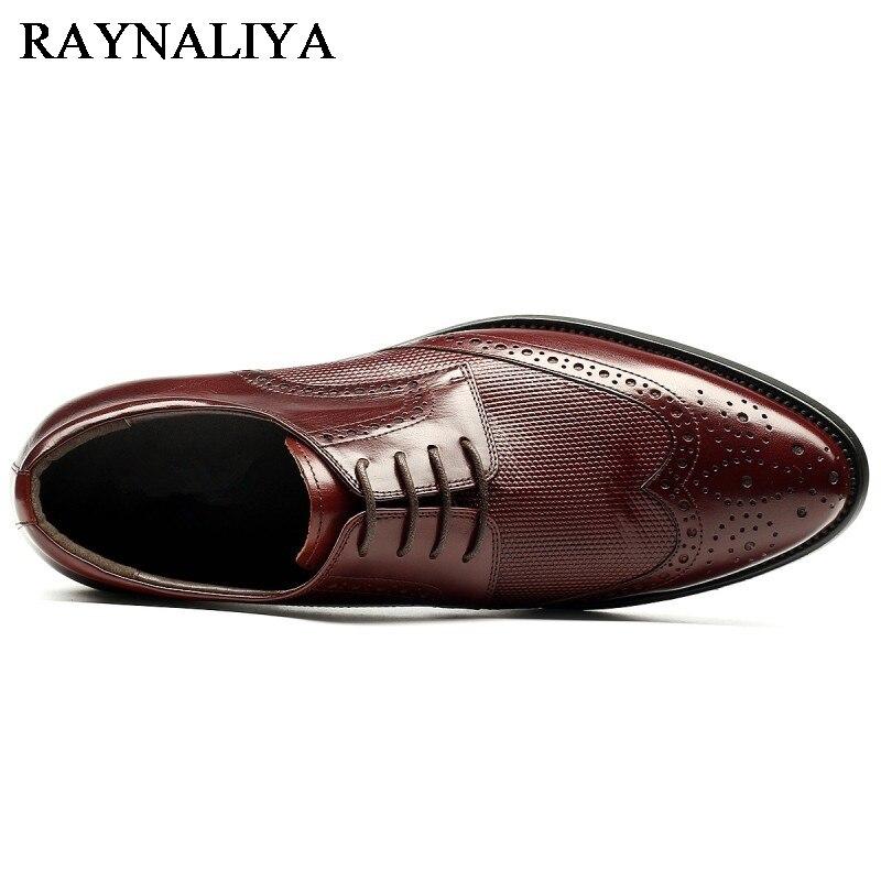 Muškarci Haljina Formal Cipele Pravi Koža Luksuzne Moda Vjenčanje - Muške cipele - Foto 3