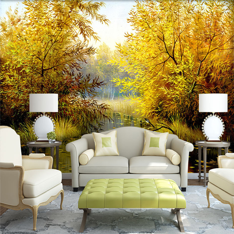 Custom 3d photo large mural wallpaper natural landscape for Custom mural wall covering