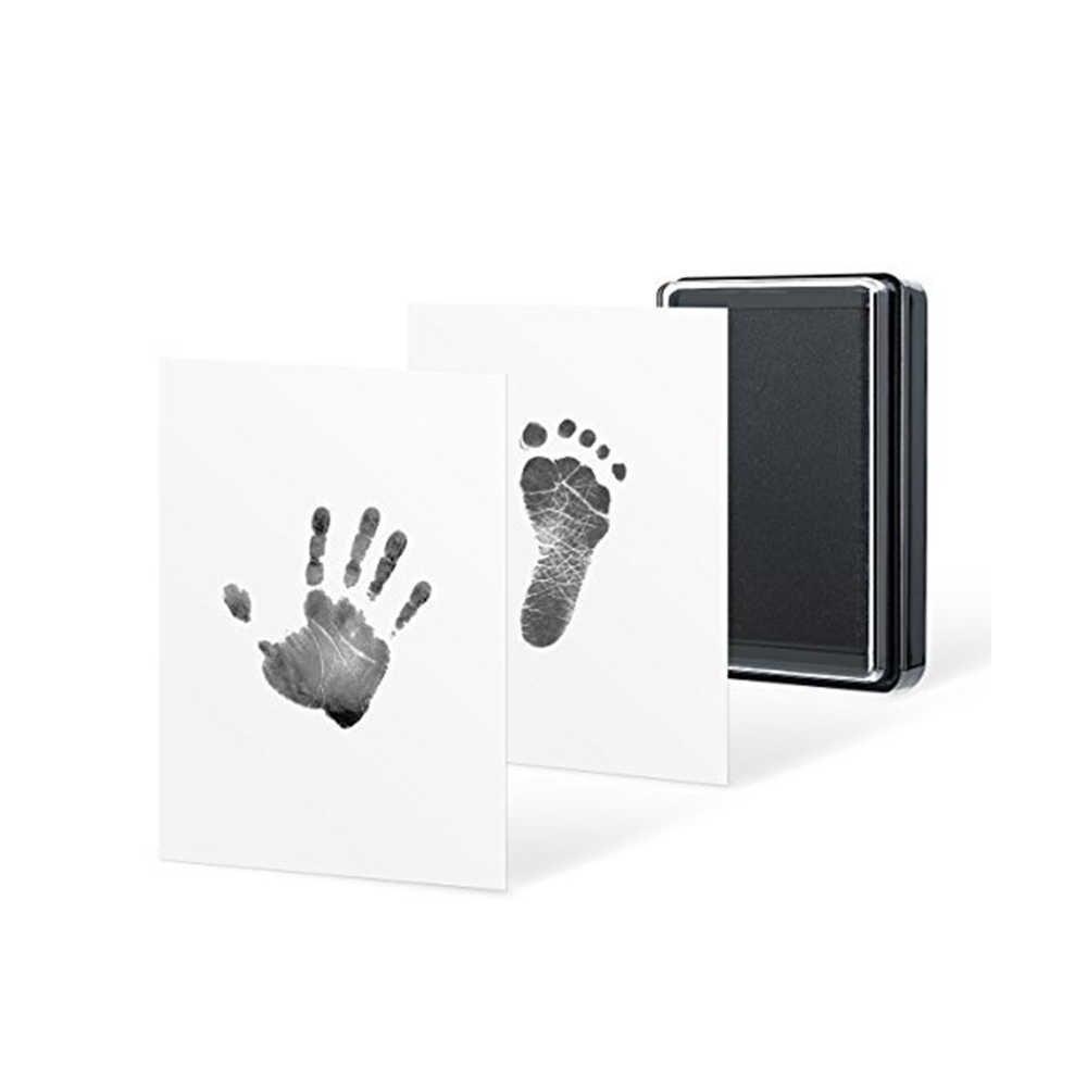 เป็นมิตรกับสิ่งแวดล้อม Baby Care ทารกปลอดสารพิษ Handprint รอยเท้าพิมพ์ชุดเด็กของที่ระลึกหล่อทารกแรกเกิดรอยเท้า inkpad