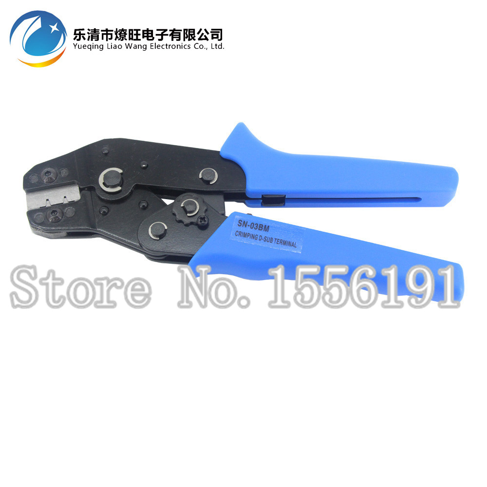 Hand Crimping pliers SN-03BM,For Crimping of D-SUB connectors,XH,PH 1.5 1.25 ZH1.5, 30-24AWG Crimping tool 0.08-0.14mm2 n102a0 5242pc d sub micro d connectors 100p r a shld recept mr li