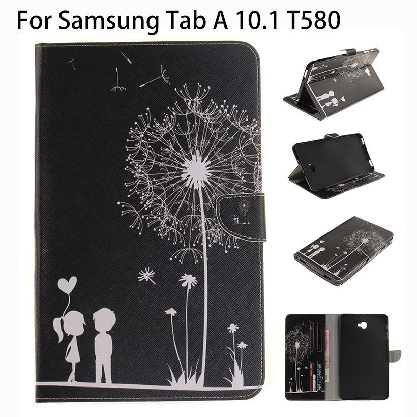 Cover Case For Samsung Galaxy Tab A A6 10.1 2016 T580 T585 T580N SM-T580 Case Tablet PU Leather Print Design Protective Funda flip cover pu leather for samsung galaxy tab a6 10 1 2016 t585 t580 sm t585 t580n tablet case cover soft tpu back cover