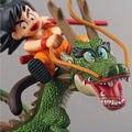 Envío Libre 14 cm 1 unids Dragon Ball Z Super Saiyan Goku con Dragon Riding PVC Figuras de Acción Colección Modelo juguete de la Muñeca