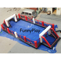 inflatable playground,8*3.5m inflatable soccer football field,inflatables soccer pitch Football Game