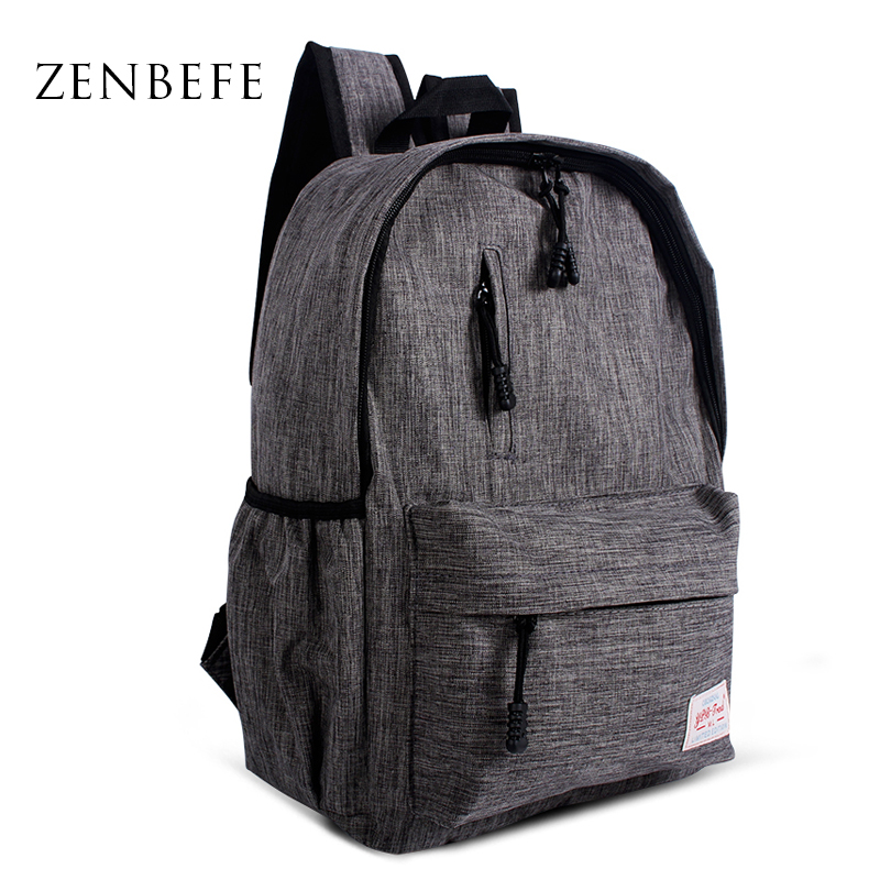 ZENBEFE Linen Small Backpack Unisex School Bags For Teenage School Backpack For Students Backpacks Rucksack Bookbags