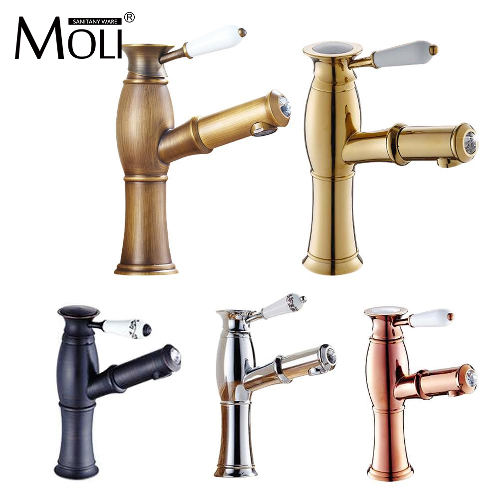 Promotion new antique copper wire drawing basin faucet - Bathroom sink faucet with sprayer ...