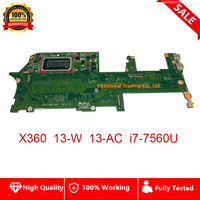 Brand New For HP Spectre X360 13 W 13 AC Laptop Motherboard i7 7560U SR366 DAX31MB1AA0 16GB Mainboard 100% Fully Tested