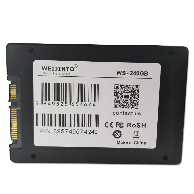 "WEIJINTO 2,5 ""SATAIII SATA3 SSD 60GB 120GB 240GB 128GB 256GB 512GB 480GB 360 960GB 1TB 3 GB/S GB 16GB 32GB sólido Estado de disco"