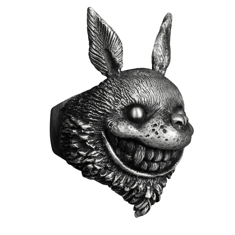 Personnaliser Animal Tonari pas de Totoro anneau Hayao Miyazaki Anime 925 bijoux en argent pour les filles petite amie cadeau de noël Unique - 5