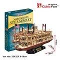 Candice guo rompecabezas de papel del rompecabezas de CubicFun 3D modelo de construcción de juguete Mississippi steamboat barco barco bebé regalo de cumpleaños regalo de navidad 1 unid
