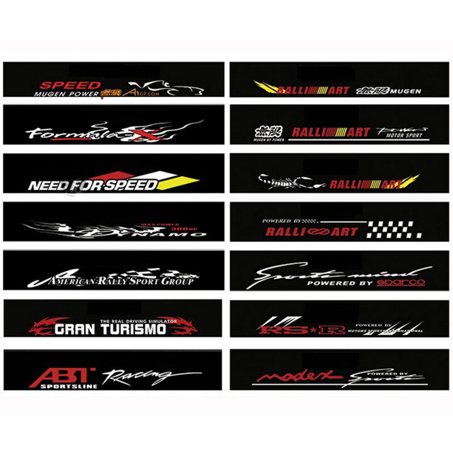 Waterproof Auto Car Front Window Windshield Decal Sticker