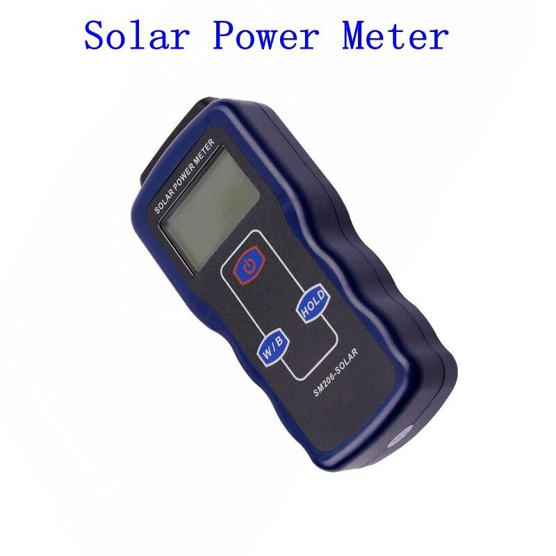 Portable Digital Solar Power Meter Precision Light Meter Data Hold Peak Hold For Solar Radiation Research Glass Light Intensity