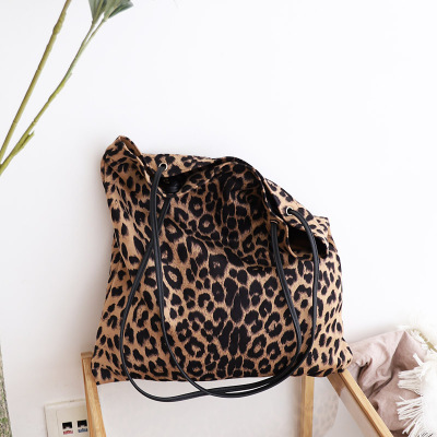 Bag Woman Handbags Leopard Tote Shopping Bag Vintage One Shoulder Bags Woman Handbags Casual