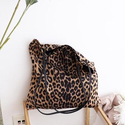 NEW Women Bag Woman Handbags Leopard Casual Tote Shopping Bag Vintage One Shoulder Bags Woman Handbags Fashion 2018 Casual