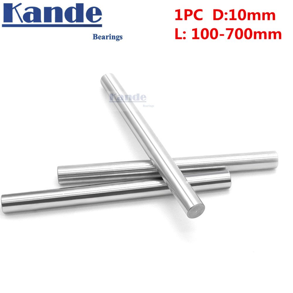 Kande Bearings 1pc d:10mm 100-600mm 3D printer rod shaft 10 mm linear shaft chrome plated rod shaft CNC parts kande bearings 1pc d 16mm 3d printer rod shaft 16mm linear shaft 230mm chrome plated rod shaft cnc parts 100 700mm