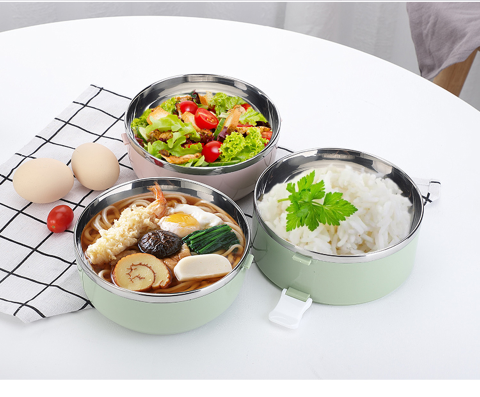 LIYIMENG 304 Stainless Steel Japanese Lunch Box Thermal For Food Portable LunchBox For Kids Picnic Office Workers School113