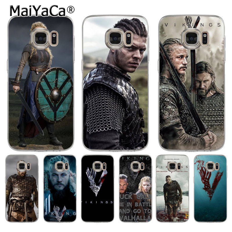 MaiYaCa Vikings series 4 Coque Shell Phone Case for Samsung S5 S6 S7 Edge S8 Plus S6 Edge Plus S3 S4 ...