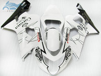 Upgrade Fairing kits for SUZUKI 2004 2005 GSXR 600 R750 ABS plastic fairings kit 04 05 GSXR750 GSXR600 K4 white corona bodyworks