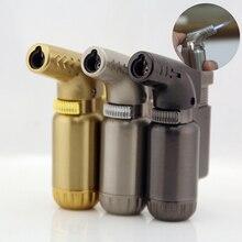 Мини газовая Зажигалка металлическая ветрозащитная Зажигалка для сигарет сварочный турбо фонарь зажигалка золото серебро черный без газа аксессуары для сигарет