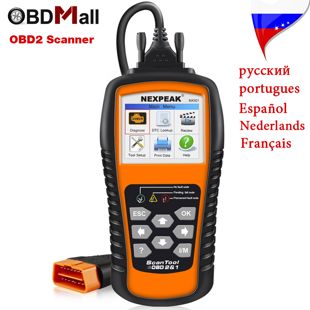 Top Rated OBD2 Car Diagnostic Scanner NEXPEAK NX501 OBD 2 EOBD Auto Diagnostic Scanner Engine Code Reader in Russian Portugues xtool iobd2 diagnostic tool for bmw for iphone ipad iobd2 code scanner by bluetooth support obdii eobd protocol car diagnose